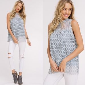 TORI Lace Detail Top - SAGE